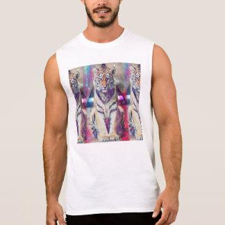 Hipster tiger - tiger art - triangle tiger - tiger sleeveless shirt