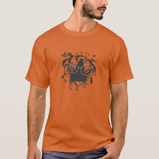 Hipster Tiger with Glasses, Black T-Shirt