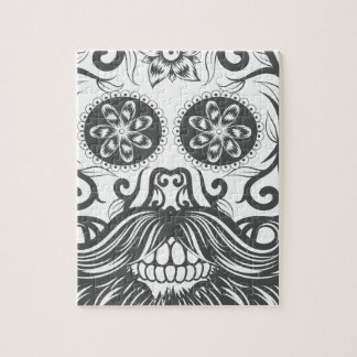 Hipster to sugar skull 1 jigsaw puzzle