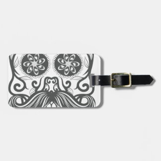 Hipster to sugar skull 1 luggage tag