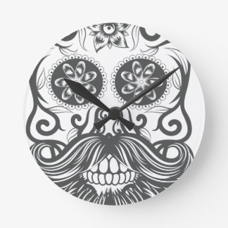 Hipster to sugar skull 1 round clock