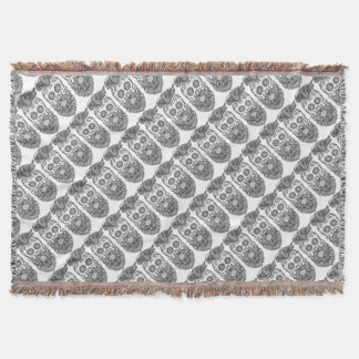 Hipster to sugar skull 1 throw blanket