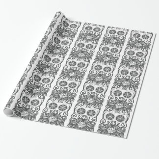 Hipster to sugar skull 1 wrapping paper
