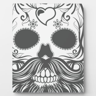 Hipster to sugar skull 2 plaque