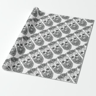 Hipster to sugar skull 2 wrapping paper