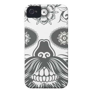 Hipster to sugar skull 3 iPhone 4 case