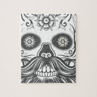 Hipster to sugar skull 3 jigsaw puzzle