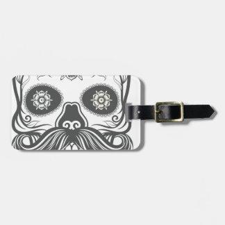 Hipster to sugar skull 3 luggage tag