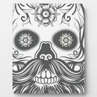 Hipster to sugar skull 3 photo plaque
