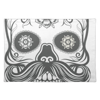 Hipster to sugar skull 3 placemat