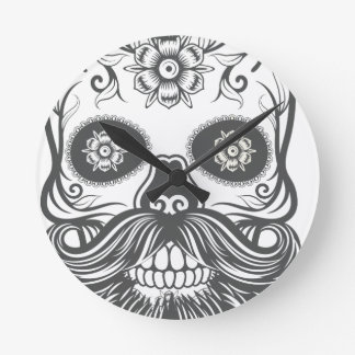 Hipster to sugar skull 3 round clock