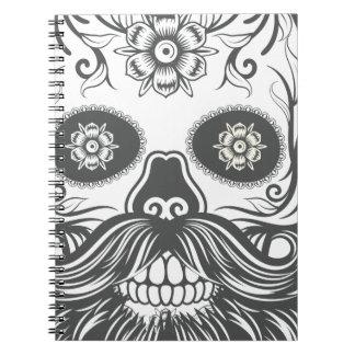 Hipster to sugar skull 3 spiral notebook
