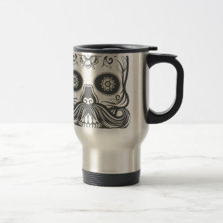 Hipster to sugar skull 3 travel mug
