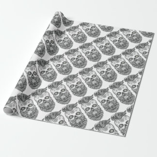 Hipster to sugar skull 3 wrapping paper