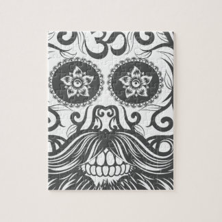 Hipster to sugar skull 4 jigsaw puzzle