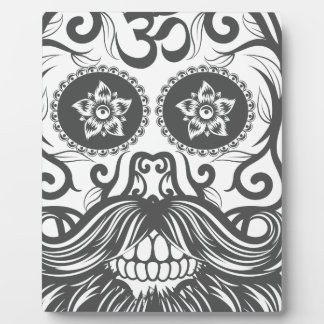 Hipster to sugar skull 4 photo plaque