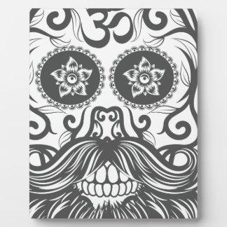 Hipster to sugar skull 4 plaque