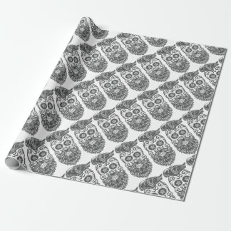 Hipster to sugar skull 4 wrapping paper