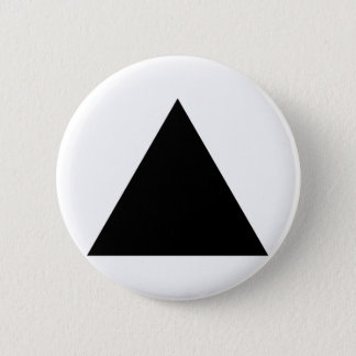 hipster triangle 6 cm round badge