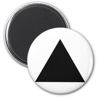 hipster triangle 6 cm round magnet