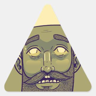Hipster Triangle Sticker