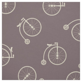 Hipster Vintage Bicycle Fabric