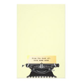 Hipster Vintage Typewriter Notepad Stationery