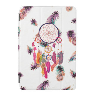Hipster Watercolor Dreamcatcher Feathers Pattern iPad Mini Cover