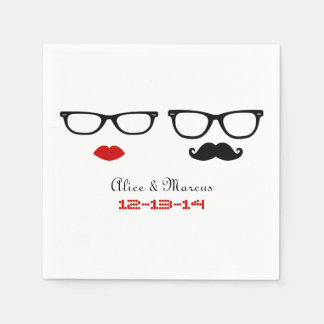 Hipster Wedding Paper Napkin