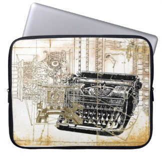 hipster writer journalist steampunk typewriter laptop sleeve