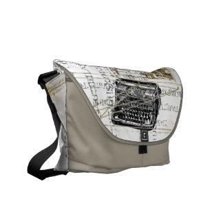 hipster writer journalist steampunk typewriter messenger bag