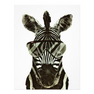 Hipster Zebra 21.5 Cm X 28 Cm Flyer