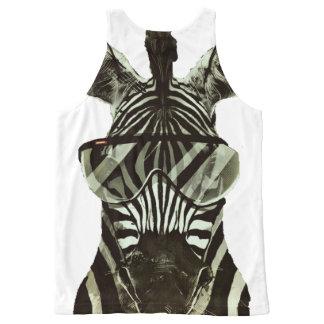Hipster Zebra All-Over Print Singlet