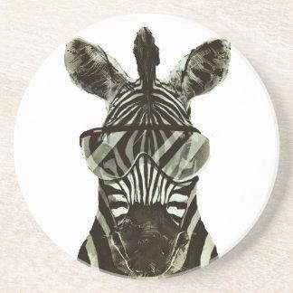 Hipster Zebra Coaster