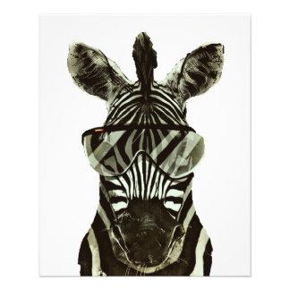 Hipster Zebra Flyer