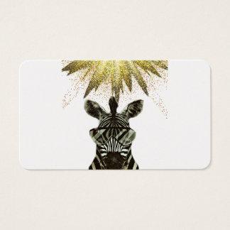 Hipster Zebra Style Animal Business Card