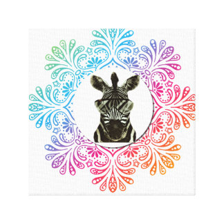 Hipster Zebra Style Animal Canvas Print