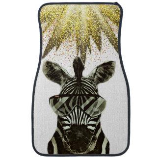 Hipster Zebra Style Animal Car Mat