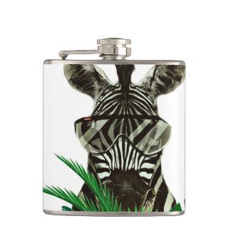 Hipster Zebra Style Animal Flasks