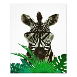 Hipster Zebra Style Animal Flyer