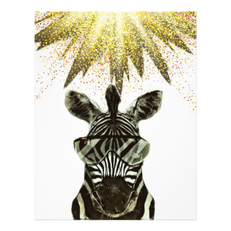 Hipster Zebra Style Animal Flyer