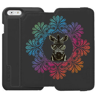 Hipster Zebra Style Animal Incipio Watson™ iPhone 6 Wallet Case
