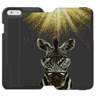 Hipster Zebra Style Animal Incipio Watson™ iPhone 6 Wallet Case