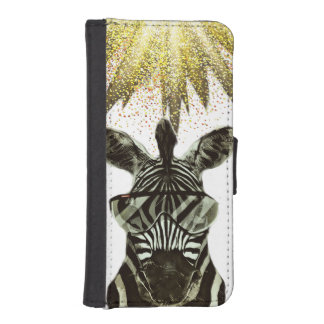 Hipster Zebra Style Animal iPhone SE/5/5s Wallet Case