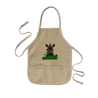 Hipster Zebra Style Animal Kids Apron