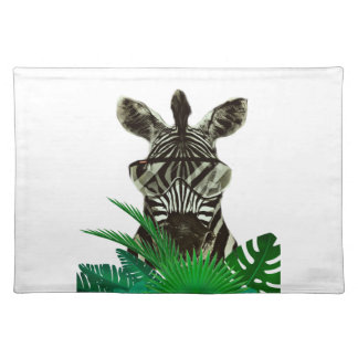 Hipster Zebra Style Animal Placemat