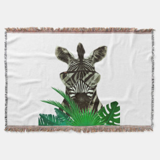Hipster Zebra Style Animal Throw Blanket