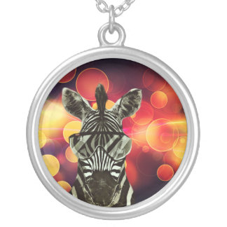 Hipster Zebra Style Silver Plated Necklace
