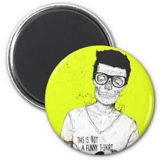 hipsters not dead 6 cm round magnet