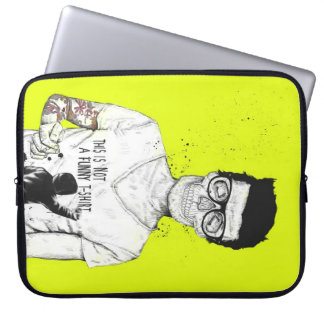 Hipsters not dead laptop computer sleeve